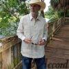Men's Cuban Guayabera 100% Linen Ivory D'Accord 2264