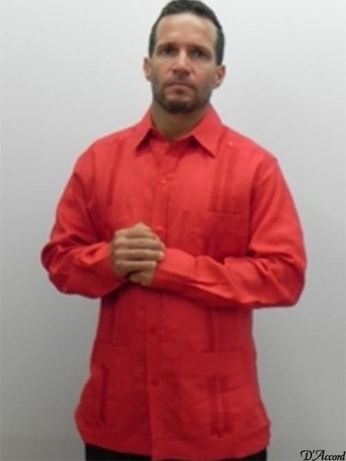 cuban guayabera-2268-red