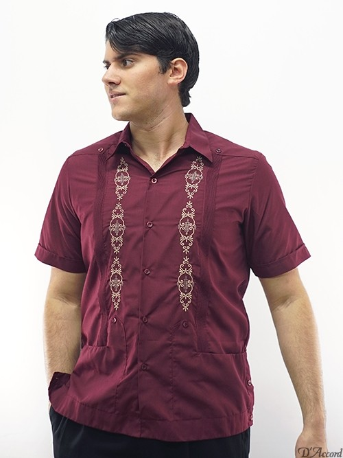 burgundmen's embroidered guayabera shirt