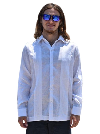 white linen wedding shirt