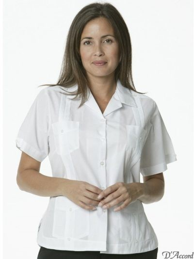 Cuban woman guayabera