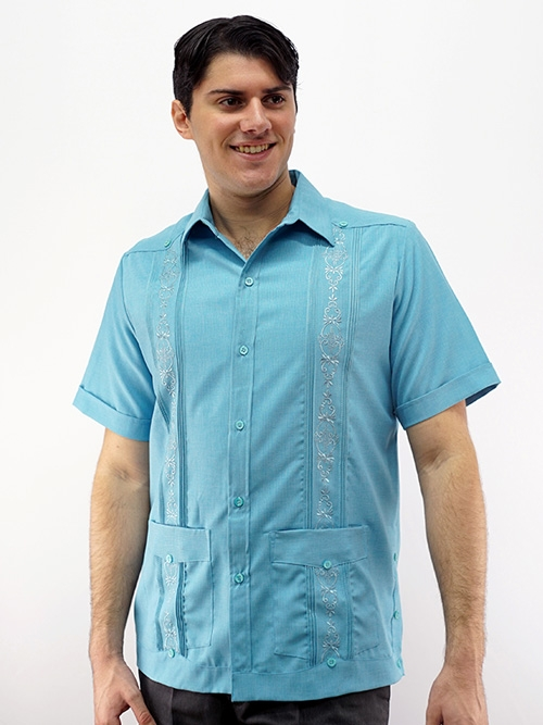 9c731768c8037 Men's Guayabera Embroidered Shirt D'Accord 2507