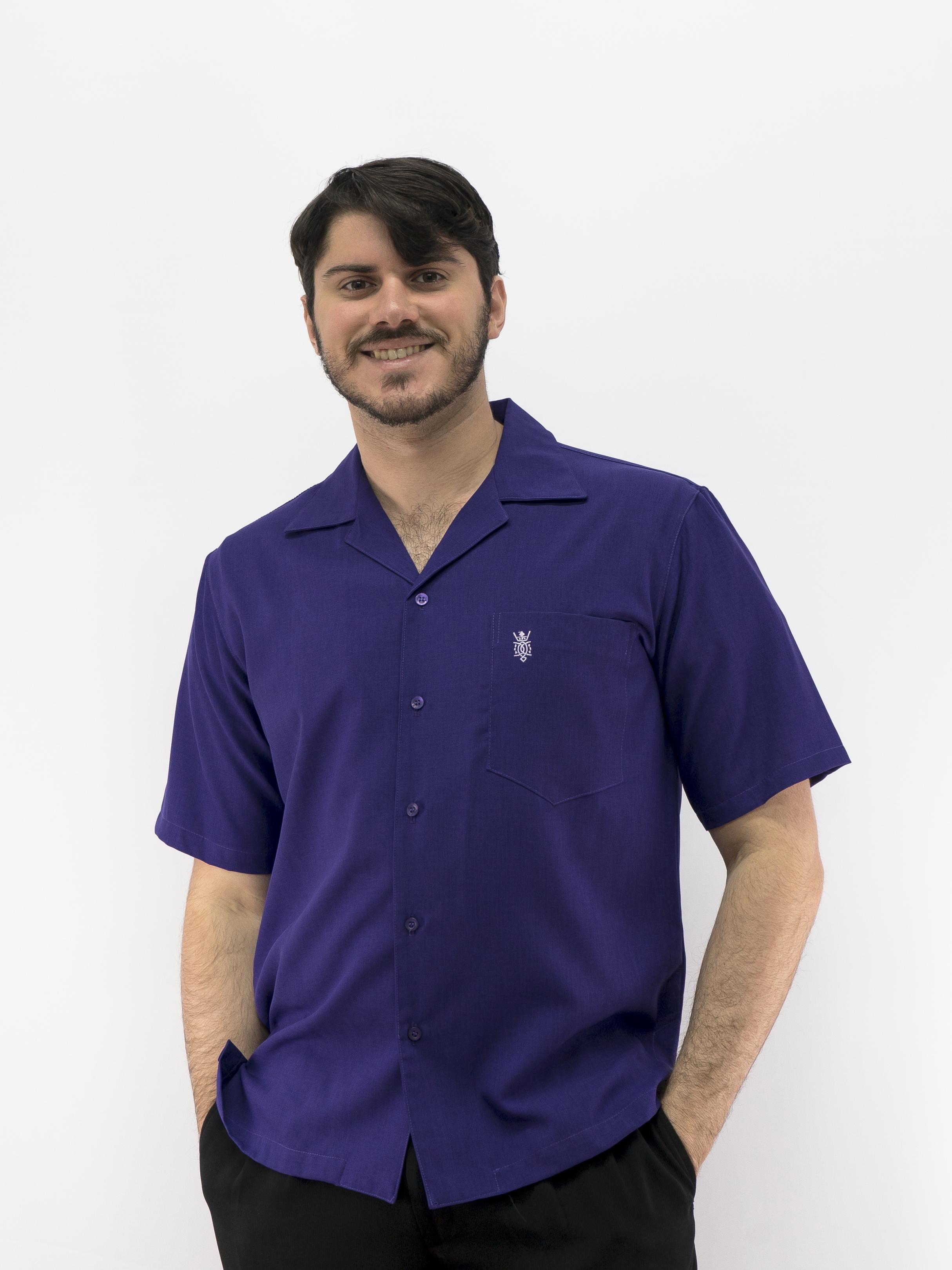 43d588414b4f24 Uniform Shirt Men's Casual Shirt Purple D'Accord 5152U Made in USA SOLD OUT