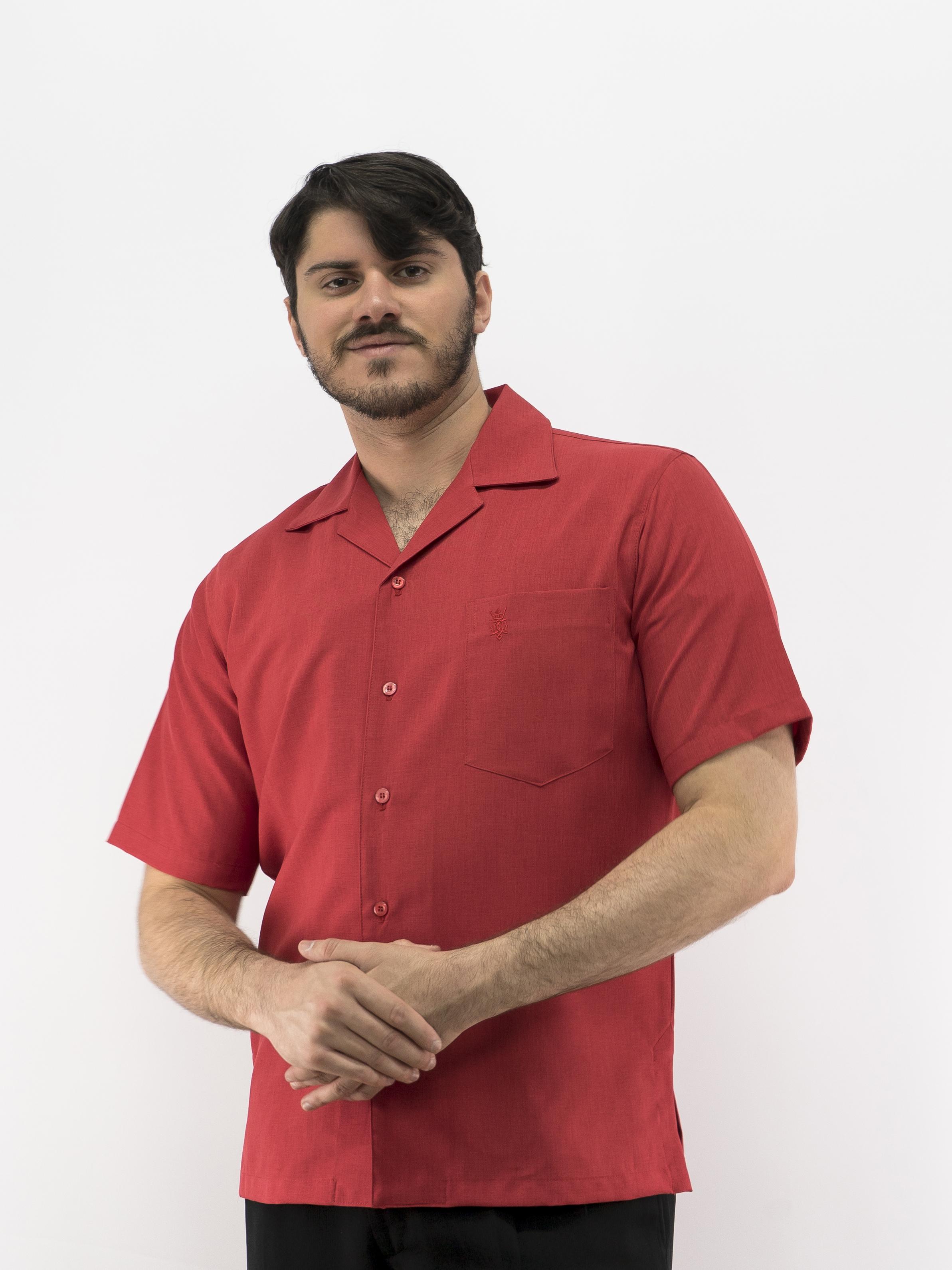 78f451b97b Uniform Shirt Men s Casual Shirt Red D Accord 5152U Made in USA SOLD ...