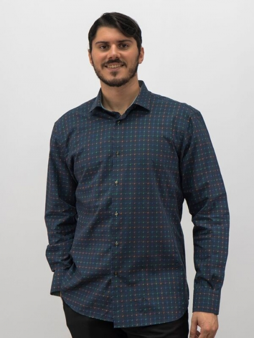0c58098309 D Accord Men s Long Sleeves Shirt Premium Cotton Blue 4487 Modern Cut