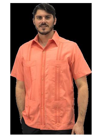 Banded bottom orange shirt