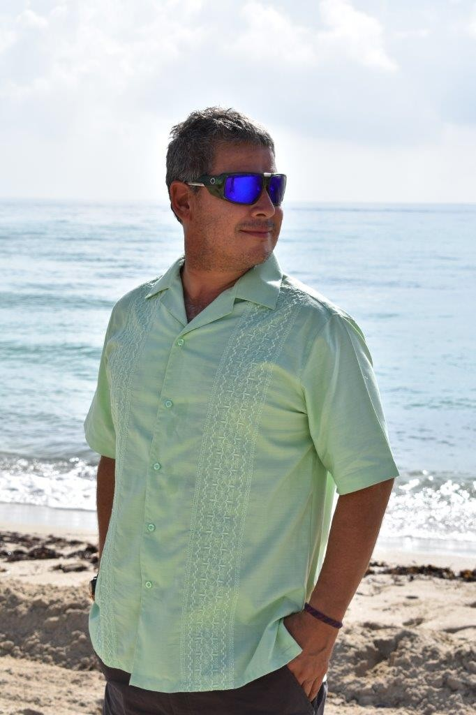 D'Accord lime green casual shirt 5164