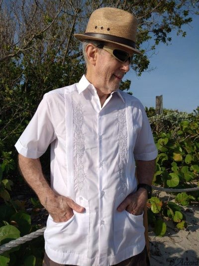 Buy Mexican Wedding Shirt Embroidered White Guayabera Shirt XS S M L XL 1X 2X 3X 4X D'Accord 2328