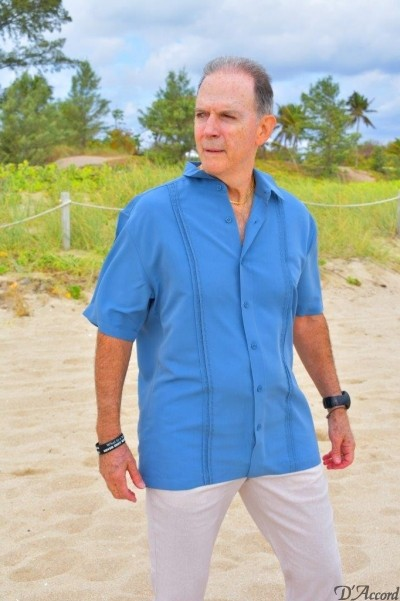 D'Accord blue short sleeve shirt