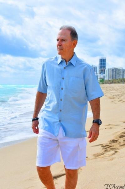 D'Accord blue linen shirt