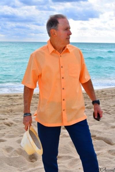 D'Accord coral linen shirt