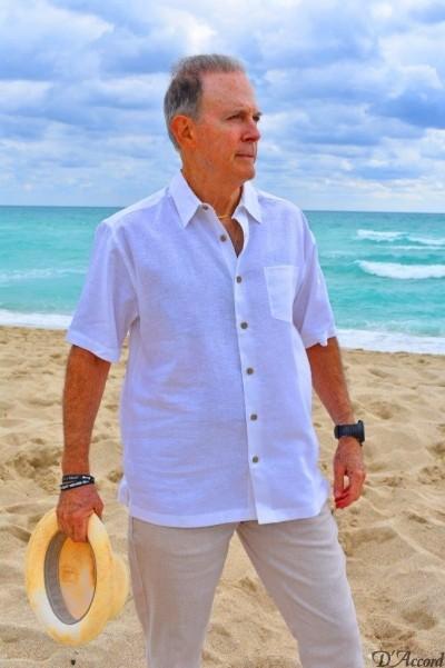 D'Accord white linen shirt