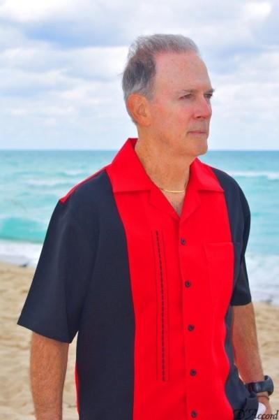 D'Accord red black retro shirt