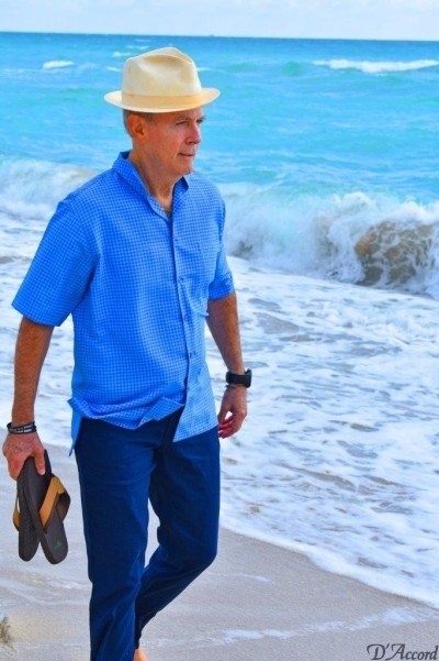 D'Accord blue printed shirt short sleeve