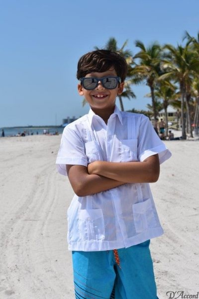 KIDS BOYS CUBAN GUAYABERA MEXICAN WEDDING SHIRT