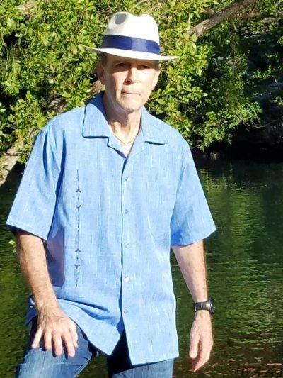 Men's Cuban Collar Retro Shirts Embroidered Blue D'Accord 5065