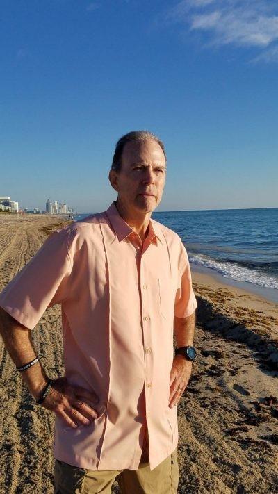 Men's Cuban shirt coral shirt