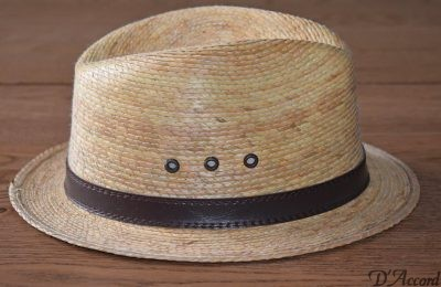 Men's Authentic Natural Palm Leaf D'Accord 1001 Hat