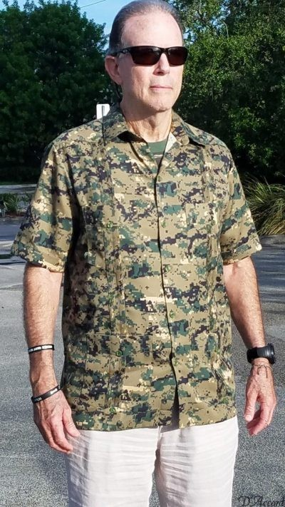 BUY MEN'S CAMOUFLAGE GUAYABERA SHIRT