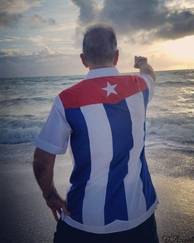 Cuban Flag Guayabera D'Accord 2451