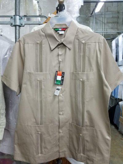 Men's Cuban guayabera 100% Cotton Gaberdine weave D'Accord 2508