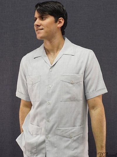 American Guayabera Silver made in USA D'Accord 2287