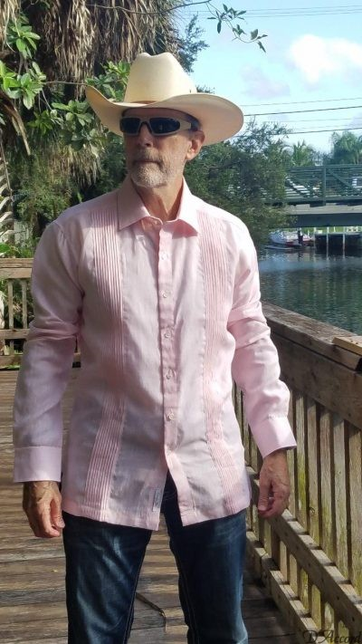 Men's Mexican Wedding Shirt Pink D'Accord 2001