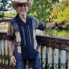 Men's Cuban Collar Casual Tropical Print Shirt Gray D'Accord 5035