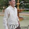 Men's Authentic Cuban Mexican Wedding Shirt 100% Linen Ivory D'Accord 2264