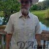 Men's Authentic Cuban Guayabera Mexican Wedding Shirt Shirt 100% Linen Ivory D'Accord 2263