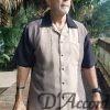 Men's Cuban Camp Collar Retro Bowling Shirt Brown Beige Black D'Accord 5013
