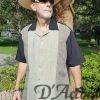 Men's Cuban Collar Camp Retro Bowling Shirt Sage Olive Black D'Accord 5013