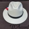 Men's Authentic Panama Style Hat with Brown Belt Buckle Band D'Accord 1002