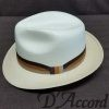 Men's Authentic Panama Style Hat with Tri- Color Band Brown Rust Tan D'Accord 1004