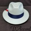 Men's Authentic Panama Hat Navy Band D'Accord