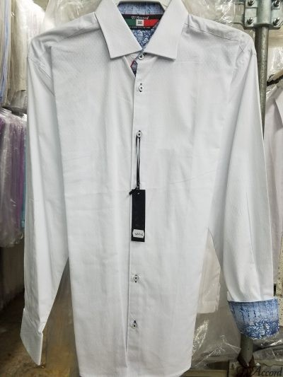 Men's Long Sleeve Dress Shirt Black D'Accord Fine 100% Cotton 4506