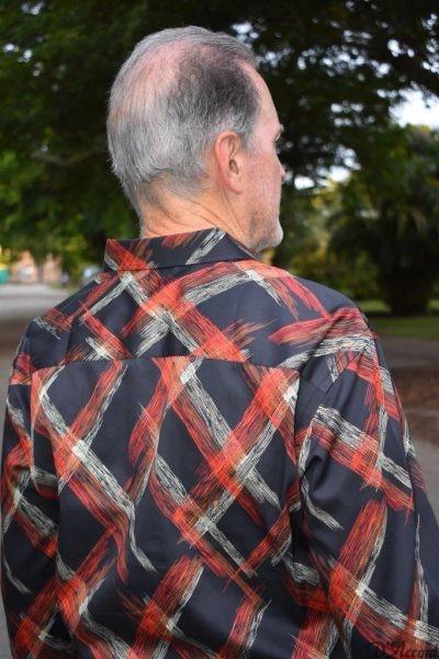 Men's Long Sleeve Modern Shirt Black Coral D'Accord 4511
