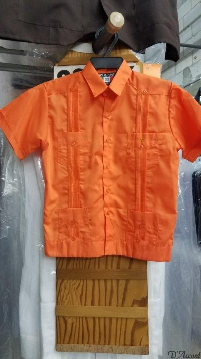 Kids Orange Guayaberas 2314