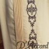 Men's Authentic Mexican Wedding Shirt Guayabera Embroidered Ecru D'Accord 2328