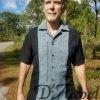 Cuban Retro Shirt Men's Casual Shirt Royal Embroidered Made in Miami USA D'Accord 5009