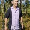 Cuban Retro Shirt Men's Casual Shirt Lavender Embroidered Made in Miami USA D'Accord 5009