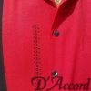 Cuban Retro Shirt Men's Casual Shirt Red Embroidered Made in Miami USA D'Accord 5009