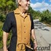 Cuban Retro Shirt Men's Casual Shirt Rust Embroidered Made in Miami USA D'Accord 5009