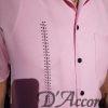 Men's Cuban Collar Casual Retro Shirt Pink Micro Fiber 5974 D'Accord