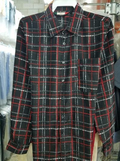 Men's Full Cut Micro Fiber Long Sleeve Shirt Square Bottom Generous Side Vents MADE to ORDER D'Accord 4535