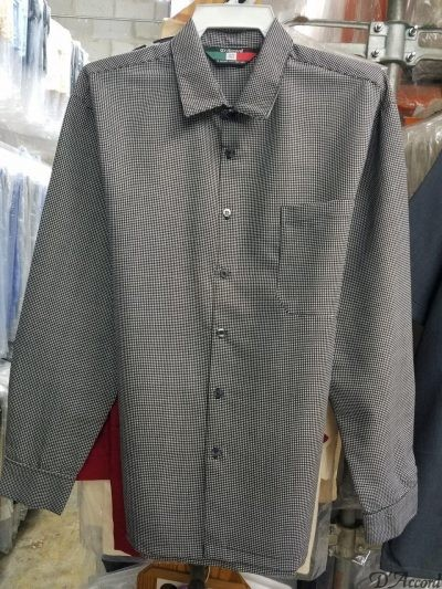 Men's Full Cut Micro Fiber Long Sleeve Shirt Square Bottom Generous Side Vents MADE to ORDER D'Accord 4529