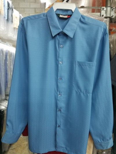 Men's Full Cut Micro Fiber Long Sleeve Shirt Square Bottom Generous Side Vents MADE to ORDER D'Accord 4532