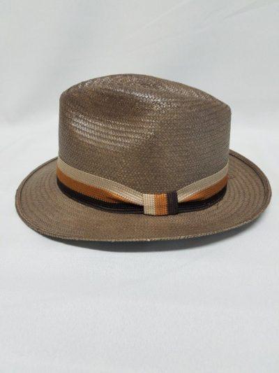 Brown Panama Hat tritone bank
